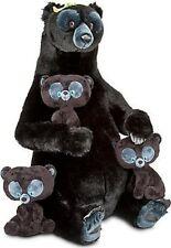 Disney Brave Queen Elinor Jumbo Plush & triplet cubs, Hamish, Hubert, Harris