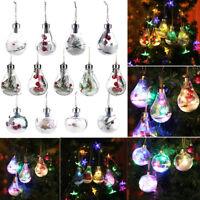 Christmas Tree LED Bulb Snow Ball Baubles Xmas Hanging Ornament Pendant Decor