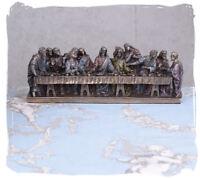 Jesus mit Aposteln christliche Figur das Abendmahl Hausaltar Leonardo da Vinci
