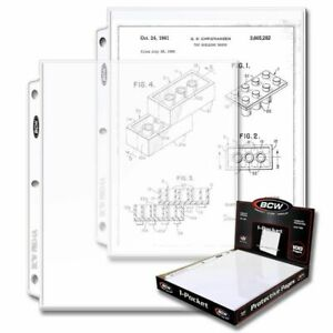 (200) BCW PRO 1-POCKET DOCUMENT PAGES - 8.5 X 11