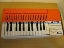 Bontempi Orgel Orange 70er Batteriebetrieb Vintage Rar Deko Requisite