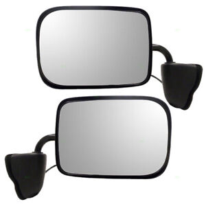 New Pair Set Power Side View Mirrors Low Mount for 94-96 Dodge Van B1500 B2500