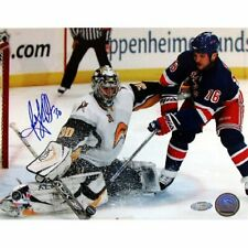 NHL Ryan Miller Kick Save Vs Sean Avery Autographed 8-by-10-Inch Photograph COA