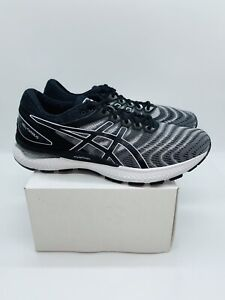 Asics Men's GEL-NIMBUS 22 Running Shoes Black / White US 12 / EUR 46.5     #D-45