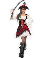 Glamorous Lady Pirate Costume, pirate Fancy Dress, UK Size 16-18