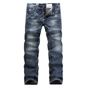 FOX JEANS Men's Norton Regular Fit Straight Blue Denim Jeans SIZE 32-44