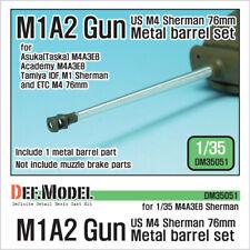 DEF. MODEL ,DM35051, US M4 Sherman M1A2 Gun metal barrel set , 1:35