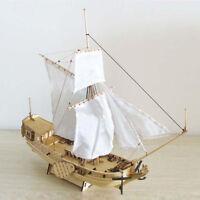 Wooden Vintage Sailing Boat Ship 3D Puzzles Model Building DIY Toys Ornament