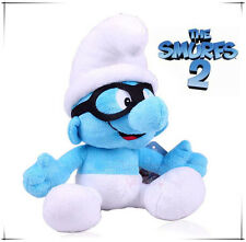 BRAINY SMURF 42CM LARGE THE SMURFS 2 MOVIE VINTAGE PLUSH DOLL KID BABY SOFT TOY