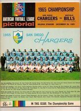 1965 AFL Championship Game Program Chargers Bills
