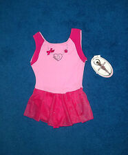GIRLS PINK SPARKLY MORET DANCE GYM SKATE LEOTARD OUTFIT SIZE 6 - 7 SMALL NWT
