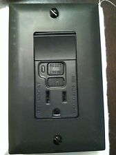 Pass & Seymour P&S GFCI 15 Amp Switch LED BLACK Single Pole 1595-SWTBKCC4