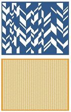 Lifestyle Crafts GooseBumpz, Double Pack, A2 Embossing Folders CHEVRON ~ EF0027