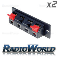 2x Sub / Speaker Box Terminal / Binding Post / Spring Clip 4-Way Connector QTY 2