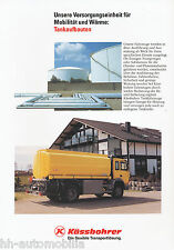 Prospekt Kässbohrer Tankaufbauten 5/92 brochure Broschüre 1992 Lkw Nutzfahrzeuge