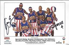 Harlem Globetrotters signed 8.5x5.5 photo autographed picture globe trotters