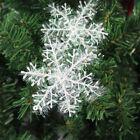 30PCS Christmas White Snowflakes Decorations Xmas Tree Party Ornaments AU decor