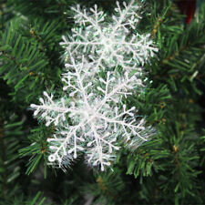30PCS Christmas White Snowflakes Decorations Xmas Tree Party Ornaments AU decor