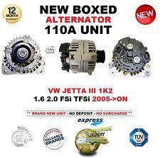 FOR VW JETTA III 1K2 1.6 2.0 FSi TFSi 2005-ON 110A ALTERNATOR UNIT OE QUALITY