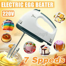 Electric Powered 7 Speed Kitchen Handheld Mixer Whisk Egg Beater Cake Baking