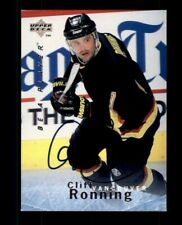 1995-96 Be A Player Autographs #S91 Cliff Ronning (ref 104346)