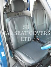 TO FIT A VAUXHALL MOVANO VAN, SEAT COVERS, 2010 ONWARDS HR, BLACK LEATHERETTE