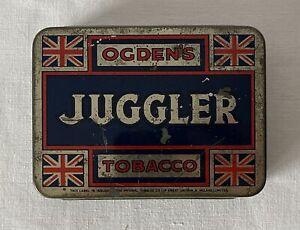 Vintage Empty 2oz Ogden's Juggler Tin Made by Imperial Tobacco