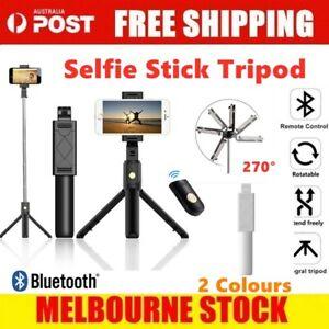 Unipod Selfie Stick Handheld Tripod Bluetooth Shutter For iPhone 11 Pro Samsung