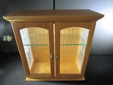 Curio Wood Cabinet Small Collection Display Armoire Glass Door Sides