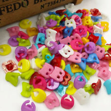 100x  mix Cartoon A/B/C letter plastic buttons Applique DIY Craft sewing PT47