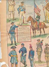 foglio soldatini l'esercito americano corriere dei piccoli anni 30