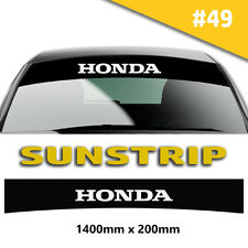 Sunstrip Honda Recing Car Stickers Decal Graphics Windscreen Stripes