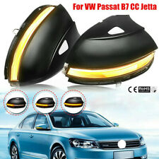 LED Dynamic Smoked Turn Lights Signal Side Mirror For VW Passat B7 CC Jetta 2009