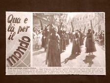 La Processione delle Croci di legno a Furnes nel 1946 Belgio