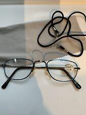 LESEBRILLE , Gun/blau +1,00Dptr. Putztuch ,brillenband