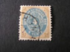 *DANISH WEST INDIES, SCOTT # 7. 4c. VALUE BROWN  & DULL BLUE 1874-79 ARMS USED