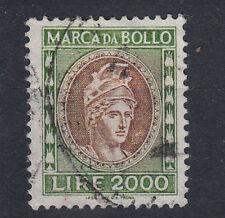 1982 DEA ROMA MARCA DA BOLLO TASSA FISSA 2000 LIRE USATA