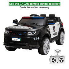 12V Kids Police Ride On Car Electric Cars 2.4G Remote Control LED Flashing Light