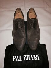New w Box Pal Zileri Leather Cap-Toe Laceup Shoes For Men - Brown - Size 10.5 US