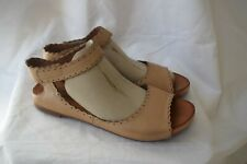 "Miz Mooz "" Adelyn"" sandals/ shoes...natural tan leather...size 10/ 41..excellent"