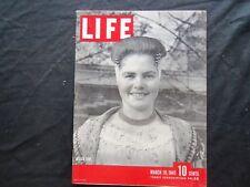 1945 MARCH 19 LIFE MAGAZINE - DUTCH GIRL - L 435