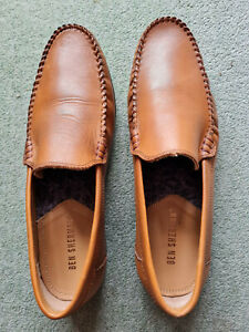 Men's brown slip on Ben Sherman casual Moccasin style shoes - size 9
