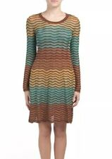 M Missoni Women's Dress Size 44 Medium Size 8 Ombre Ripple Knit Metallic Lurex