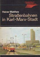 Straßenbahnen in Karl-Marx-Stadt, transpress 1. Auflage / Chemnitz