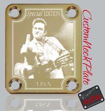 Gold Engraved Jcash Guitar Neck Plate  fits Fender tele/strat/squier