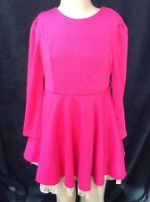 BNWT Girls Simple Cerise With Lace Trim Dress By Kool Look (4 Yr) *FREE UK P&P*