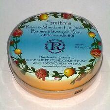 SMITH'S Rosebud Rose and Mandarin Lip Balm TIN Moisturizing Skin Therapy 0.8 oz