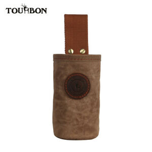 TOURBON Portable Wax Canvas Beer Bottle Carrier Drink Can Belt Holder Pouch New