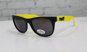 New Neff Basic UV Sunglasses Black and Yellow Grey Lens