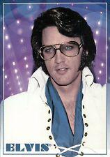 Elvis Presley Wearing Eye Glasses, Jumpsuit & Blue Shirt, The King --- Postcard